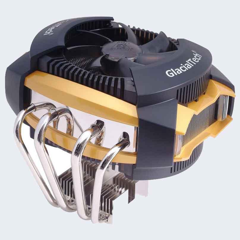 Активная охлаждающая система, радиатор + вентилятором, с использованием тепловых трубок
